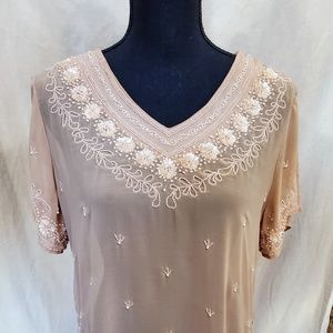 Bohemian Bali India Sequin Blouse